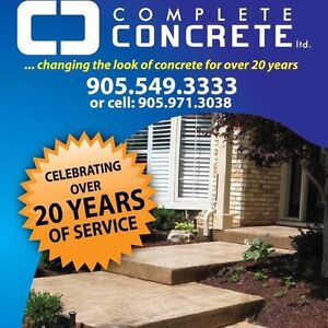 Get your concrete project done before winter !!!