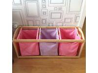Girls bedroom playroom storage