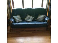 For Sale 3 & 1 & 1 Italian Leather Sofa