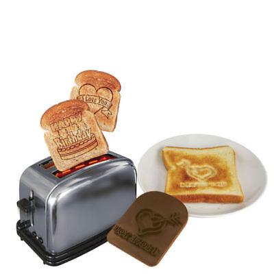 3 x TOAST TATTOOS - I LOVE YOU - HERZ - LIEBE - ROMANTISCHES FRÜHSTÜCK - NEU Romantisches Frühstück