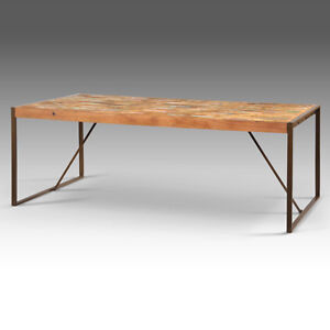 Reclaimed Boat Wood Dining Table Desk