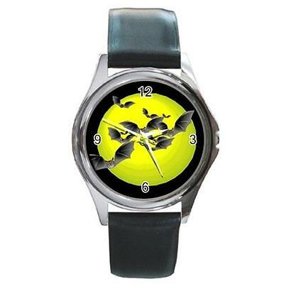 SPOOKY HALLOWEEN BATS MOON SILVER-TONE WATCH 3 OTHER STYLES - SPOOKY CUTE! ()