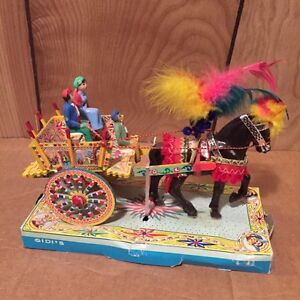 VINTAGE ITALIAN SICILIAN WOODEN CART FROM THE 1970's