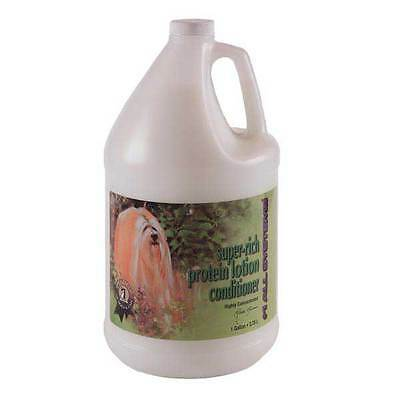 Super Rich Protein Lotion Dog Cat Grooming Conditioner Concentrate Gallon Size -