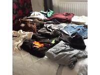 Mens job lot of clothing