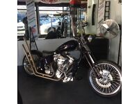 At Hurricane Part X Welcome Old Skool Softail Chop VGC As New Not Harley Bobber Chop