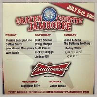 2 TICKETS TO CRAVEN!