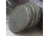 Circular paving slabs x6 600 x 50
