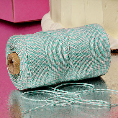 Teal & White Duo 4-ply 100% Cotton Baker's Twine *Your Choice of Length*](Baker's Twine)