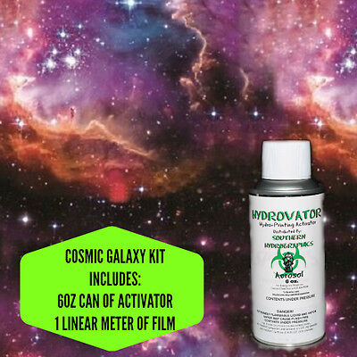 Hydrographic Film Water Transfer Hydro Dip 6oz. Activator Cosmic Galaxy Kit