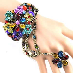 Elegant Protective color/Swarovski Crystal bracelet&ring Set BAR01011101