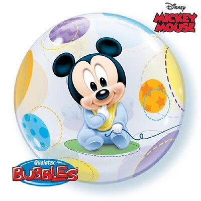 Sphere BABY MICKEY MOUSE Bubble BALLOON Birthday Party Decoration Supplies (Baby Mickey Party Supplies)