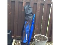 Topflite XL bag with trolley and umbrella , 15 clubs