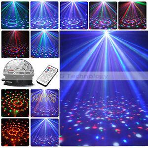 DMX 512 Disco DJ Lichteffekt Discokugel LED Licht STRAHLER Party + Fernbedienung
