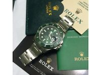 HULK green face green bezel submariner full stain mens automatic watch rolex boxed papers waterproof