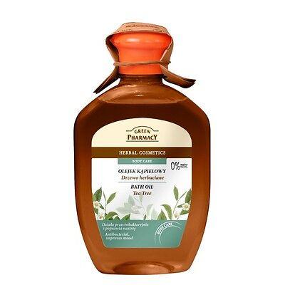 3,40EUR/100ml GREEN PHARMACY Badeöl 2in1 Duschgel Schaumbad Teebaumöl 250ml