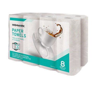 Highmark 3-Ply Tear-A-Size Kitchen Paper Towels, White, 11