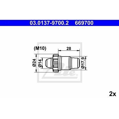 ORIGINAL ATE Rep-Satz Automatische Nachstellung BMW 3er ua.