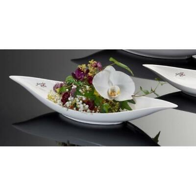 Kleine Blattschale Aluminium 20cm Schale silber Tischdekoration Dekoteller Blatt