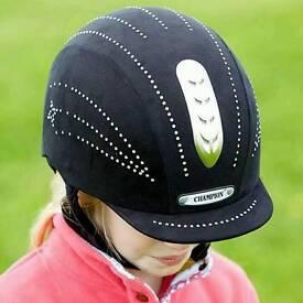 champion black junior X - Air riding hat 6.3/8 - 52cm
