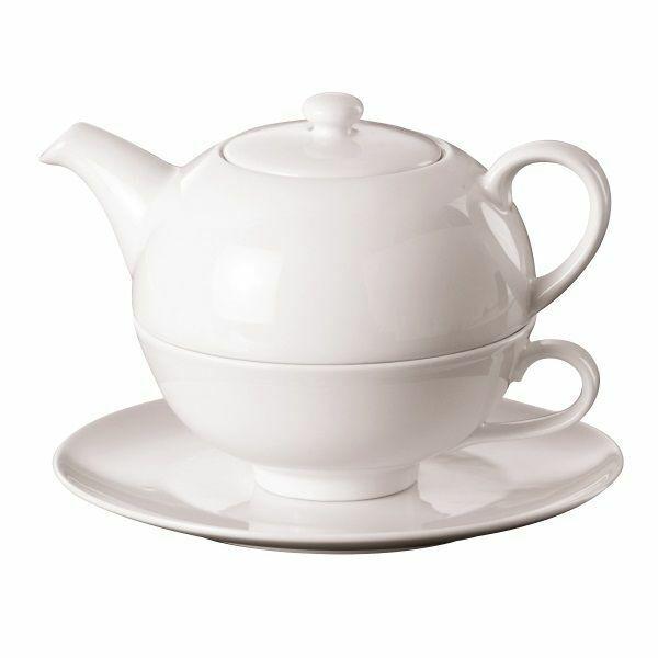 Teekanne Tea for One Set 3-teilig Teekanne, Tasse, Untertasse - Geschenk
