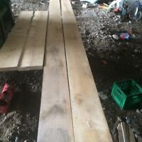 Clear maple lumber