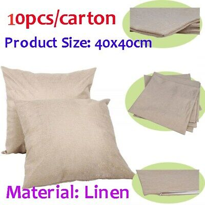 10pcscarton Linen Sublimation Blank Pillow Case Cushion Cover Transfer Pillow