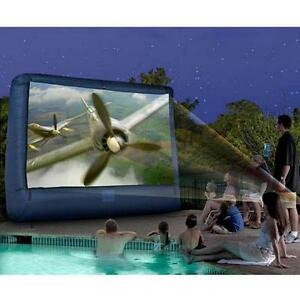 Inflatable Screen for back yard