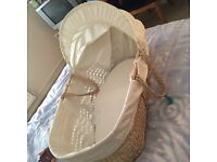 Cream Moses basket