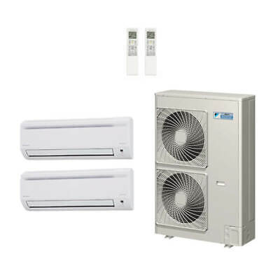 21,000 Btu 18.8 Seer Daikin 2-Zone Mini Split Heat Pump Syst