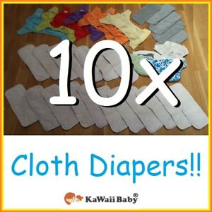 Kawaii Cloth Diaper (10x) Lot --- ONLY $20 FOR ALL!!