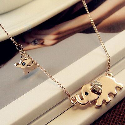 Elephant Pendants (New Fashion Elephant Pendant Chain Choker Gold Necklace Women Lady Jewelry)