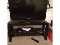 IKEA black brown slim TV unit