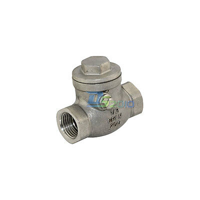 12 Swing Check Valve Wog 200 Psi Pn16 Stainless Steel Ss316 Cf8m Npt