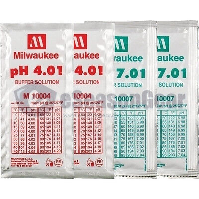 4x20ml, pH 4 + 4 + 7 + 7 Buffer Solution, for Digital pH Meter Calibration  (4 Ph Buffer Solution)
