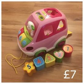 Toddler toys (mega bloks, wooden toys and shape sorters)