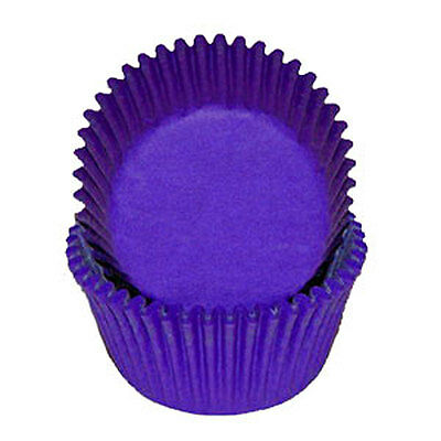 PURPLE SOLID COLOR - GLASSINE CUPCAKE LINERS - 100 Ct. Standard Size