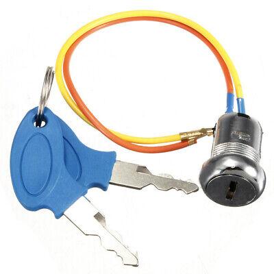 Universal 2 Wire Keys Ignition Switch Key Lock Electric Bike Go Kart Scooter  /
