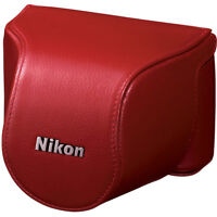 Brand New in Box Nikon Leather Body Case for S1/J1 (Red)