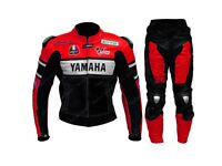 Yamaha red and black 1 or 2pc Motorbike Leather Racing Suit