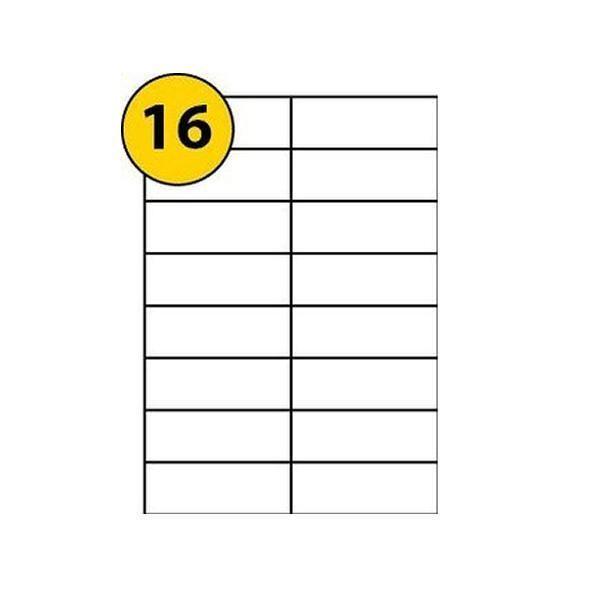 Avery Multipurpose White Labels 16 Per Sheet Pack of 1600 3484 [AVDPS16W]