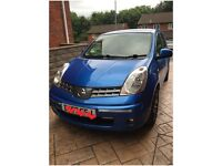 57 plate Nissan Note Acenta, 1.6, 5dr, Blue, 80k CD player Bluetooth,