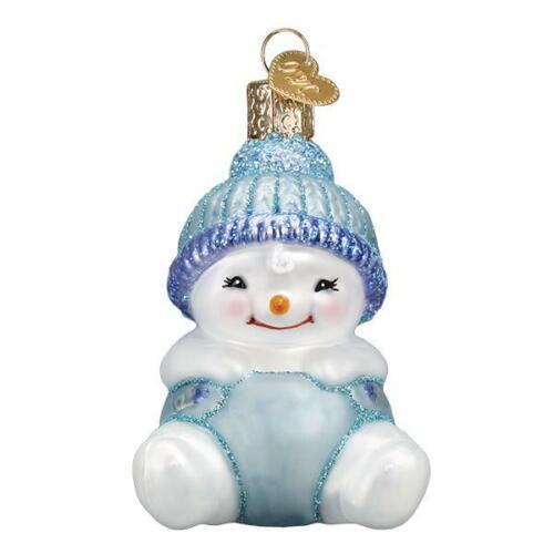 """Snow Baby Boy"" (24190)X Old World Christmas Glass Ornament w/ OWC Box"