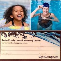 Private Swimming Lessons for you or your loved ones