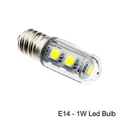 E14 Energy Saving LED Light Bulb 1W For Range Hoods Smoke Exhauster Cool White