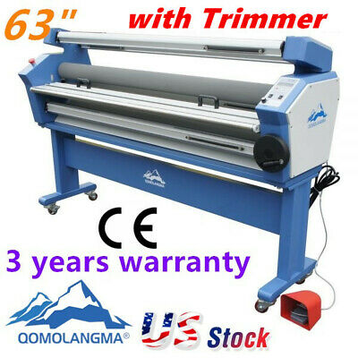 63 Full - Auto Roll Large Format Cold Laminator Machine Heat Assisted Trimmer