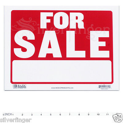 For Sale  Sign   9 X 12 Inch Weatherproof Plastic   Sell Cars Property More