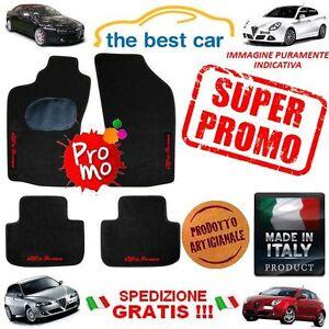 Tappetini-auto-Alfa-Romeo-147-156-159-MITO-Giulietta-con-4-scritte-PROMO