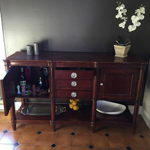 dining table, buffet , server
