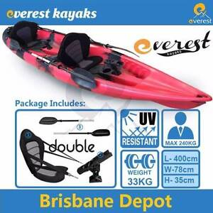 [ON SALE] 2p Double Sit-On Fishing Kayak Package Caboolture Caboolture Area Preview